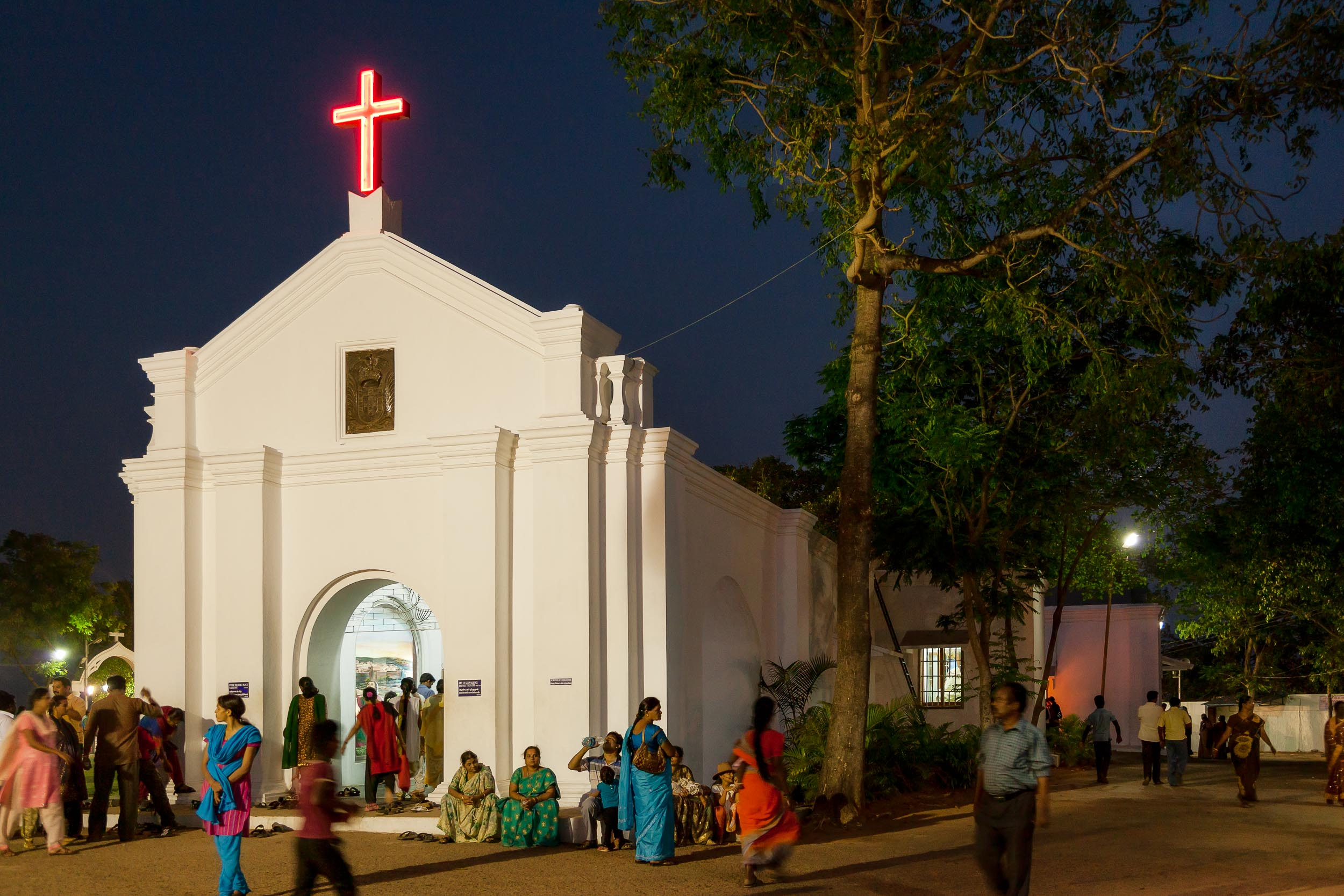 Days end, after an evening service at    St. Thomas Mount National Shrine    in    Chennai, India   .