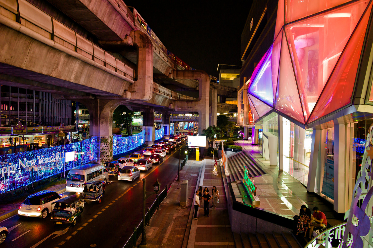 Bangkok at night is a surreal place. It's hot, it's humidy and it's chaotic. Yet a strange kind of beauty exists, in those moments of stillness between the noise and traffic.