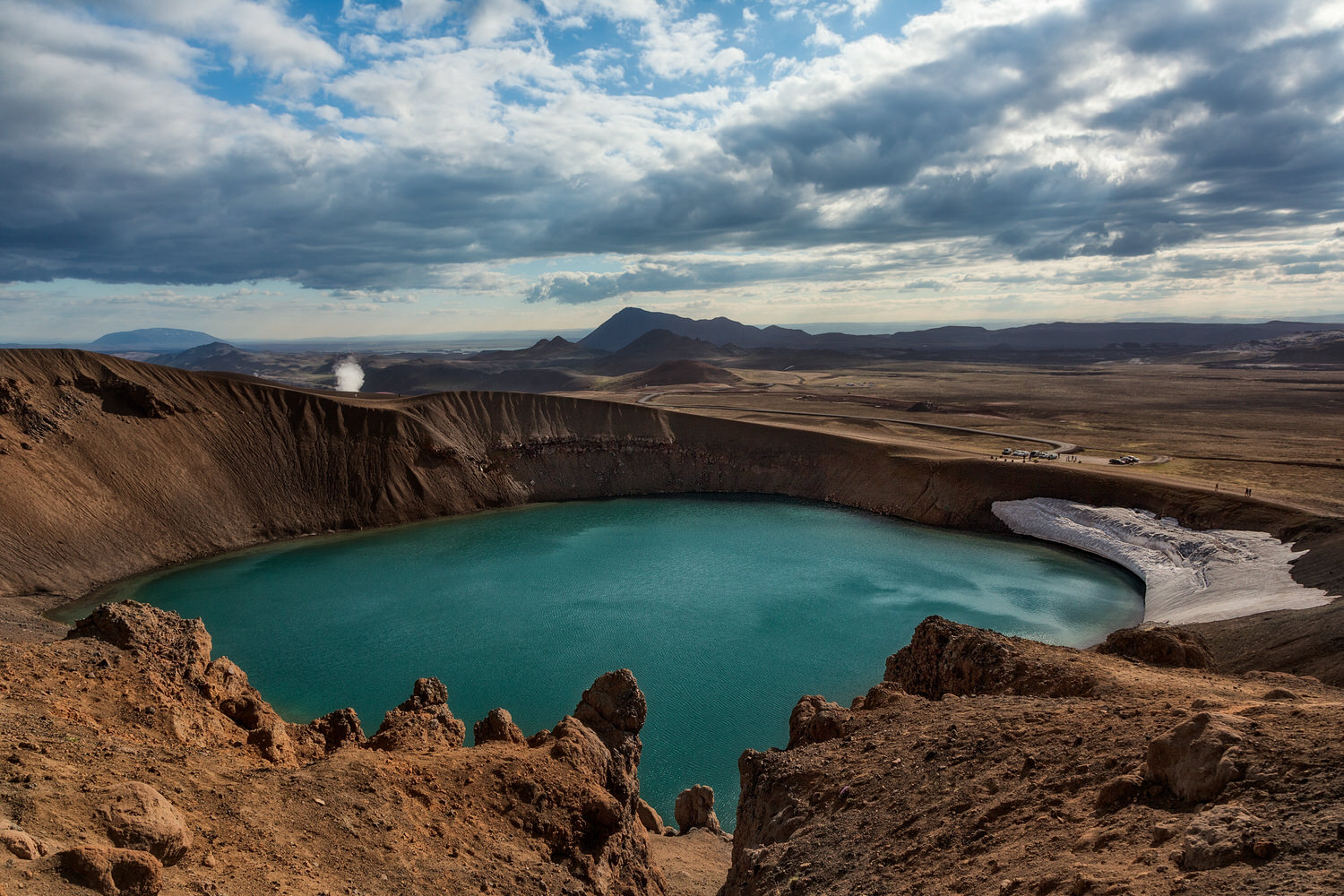 Overview of the  Stora-Viti crater  near the town of  Myvatn  in Iceland.