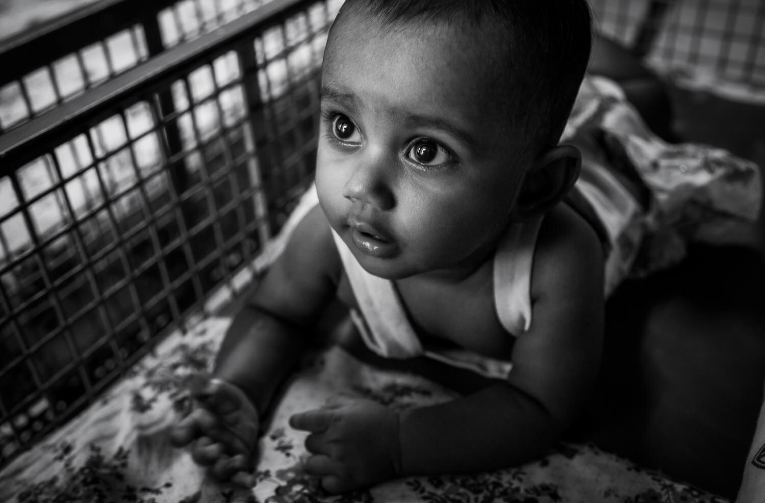 The    face of innocence    on a beautiful baby in    Chennai   , India.