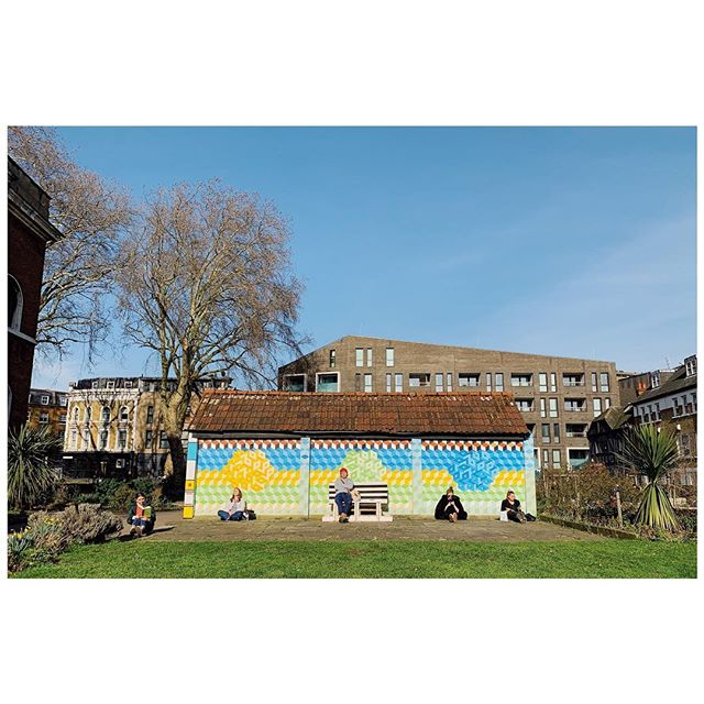 When the sun comes out in #london. Even the park chill is affable. #eastside #hackney #shoreditch worth a zoom.