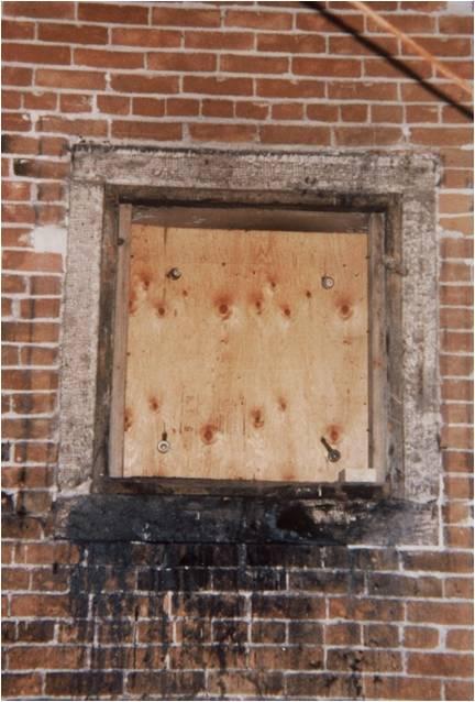 Coaldelivery door, before cleaning