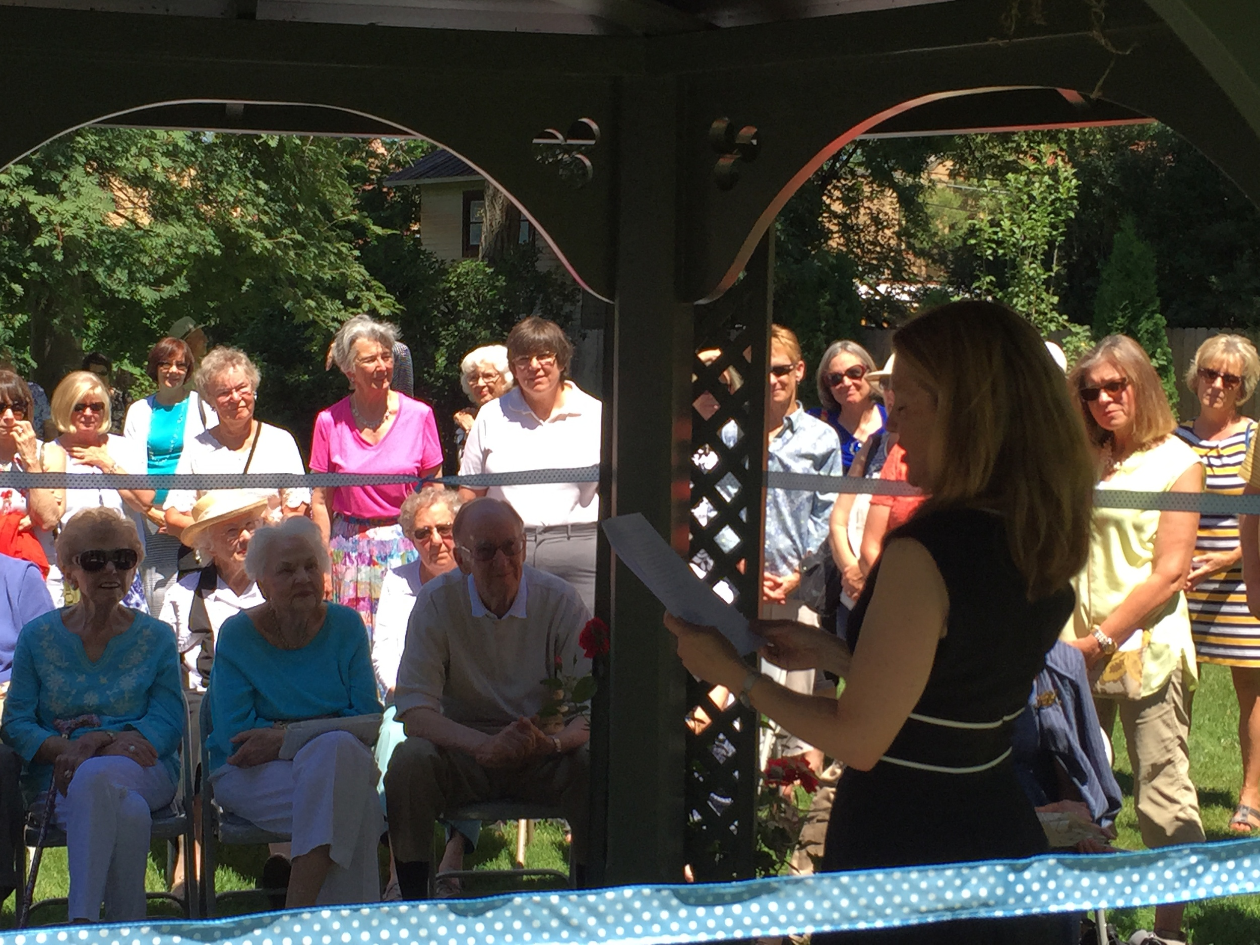 PLF board member and Avery Guild chair Kimberly Miller speaks at the dedication ceremony