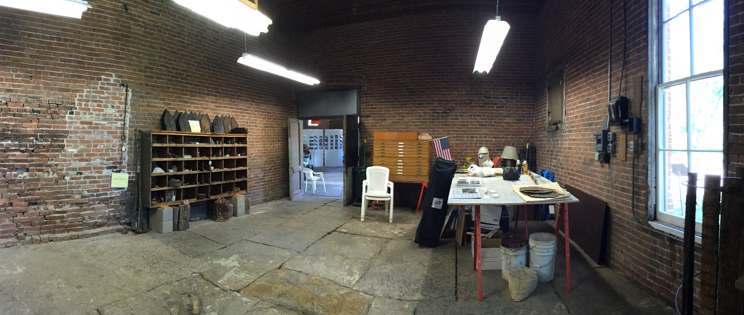 Panoramic photo of the filter room.