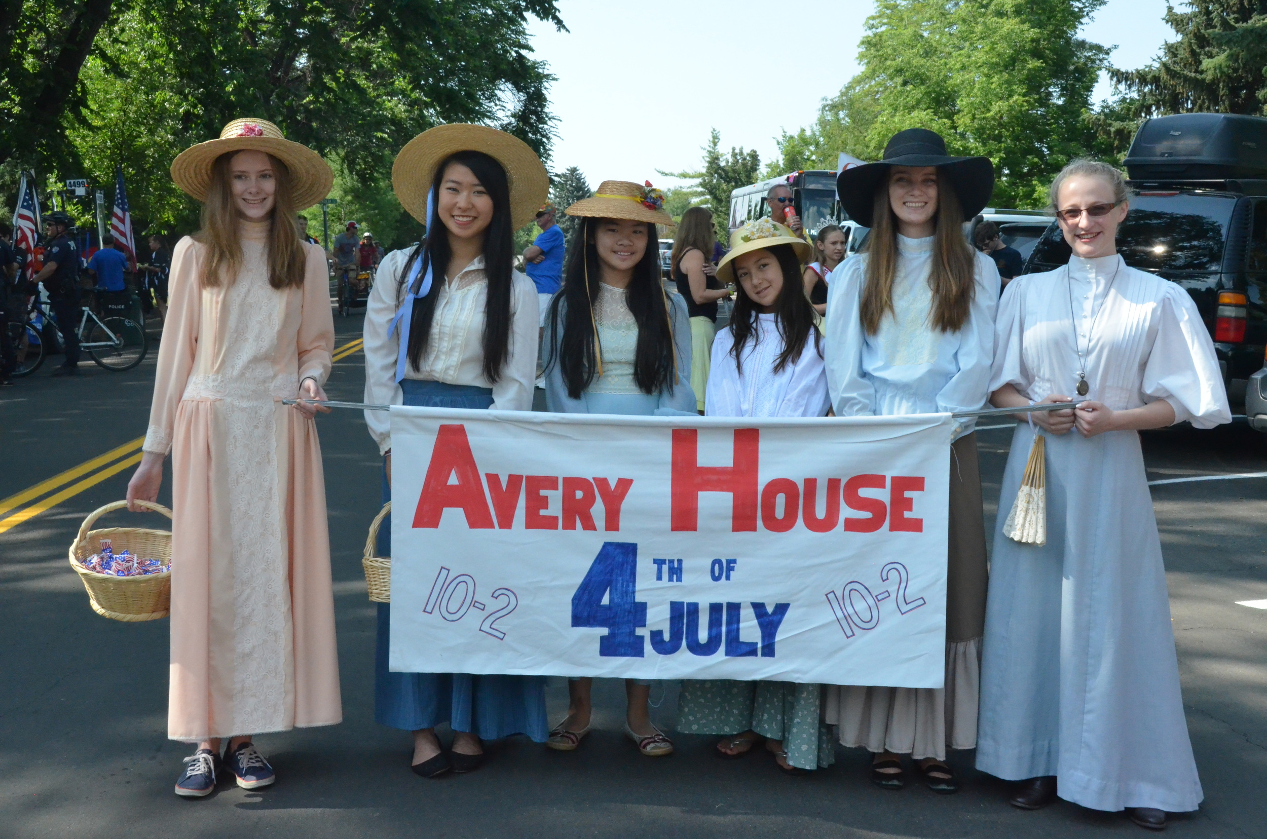 The city's July 4th parade includes Avery volunteers