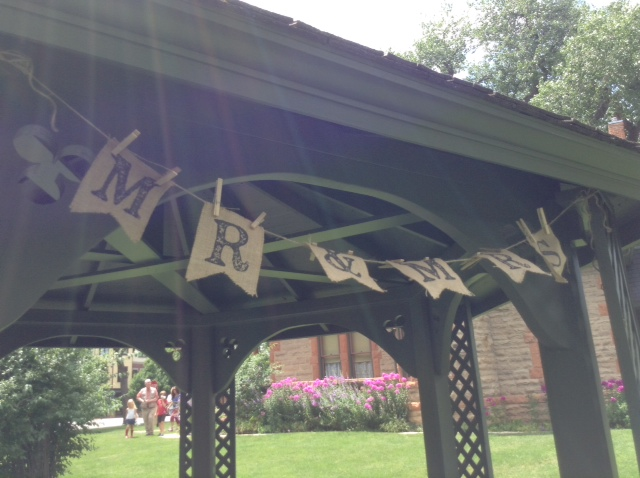 Avery House gazebo decorated for a wedding