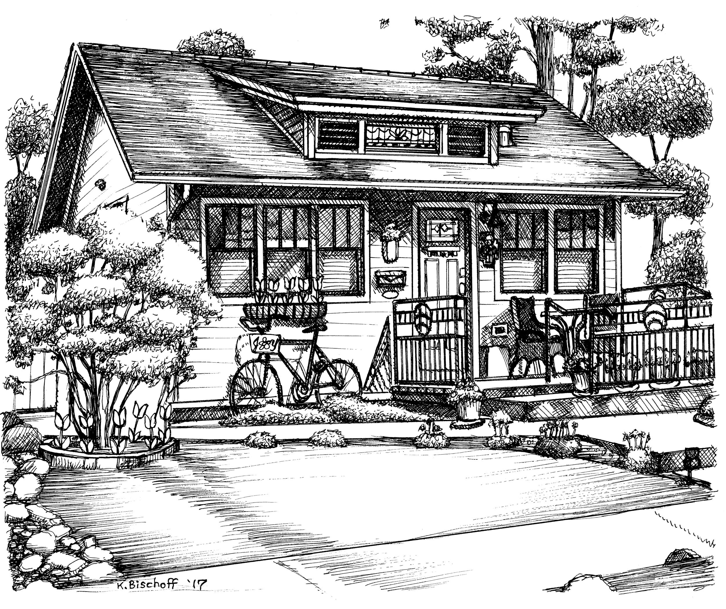 Historic Homes Tour Sketch 2017