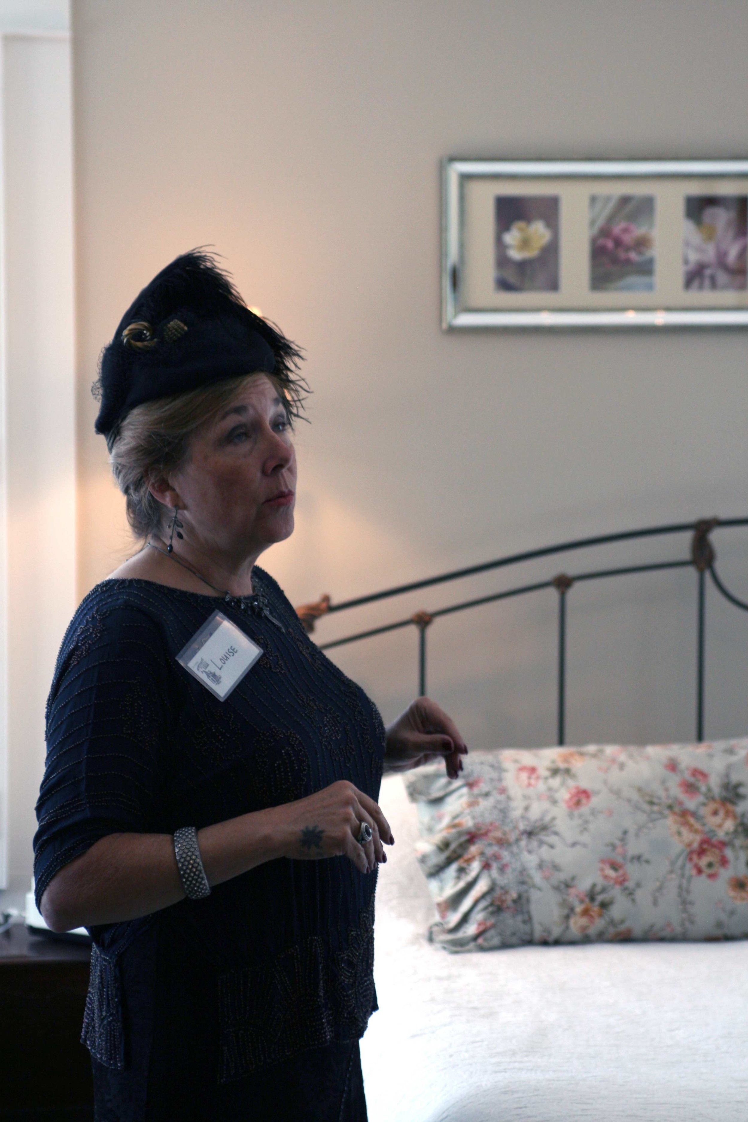 The tour is made possible by volunteer docents who guide guests through the historic homes and inform them about the history & remodel of each room