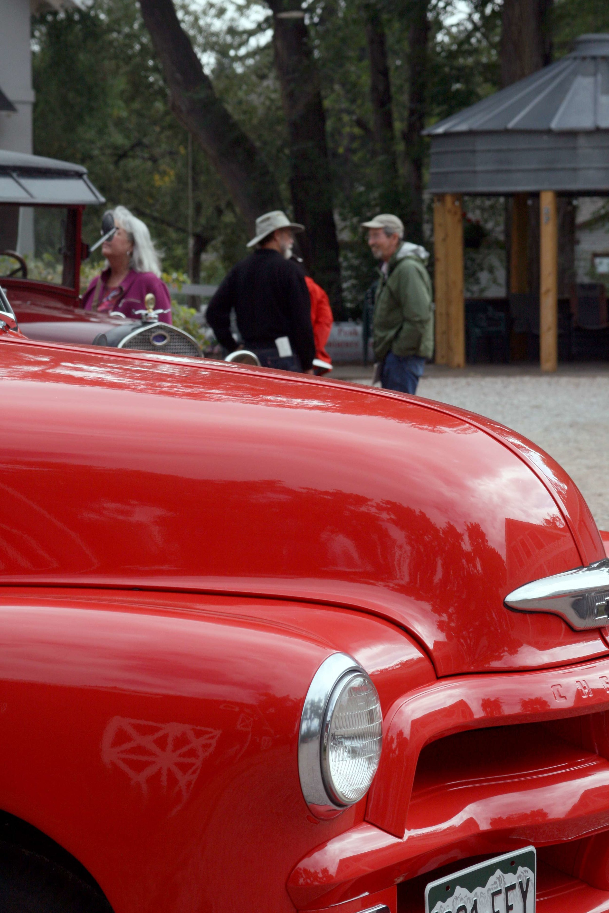 Vintage cars & farm equipment were on display at the featured farm property on the 2017 Tour