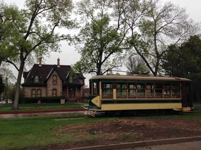 Fort Collins Municipal Railway Society  works with the city of Fort Collins to run the trolley on summer weekend afternoons and holidays. Each 3-mile round trip between City Park and Howes Street along Mountain Ave. takes about 1/2 hour