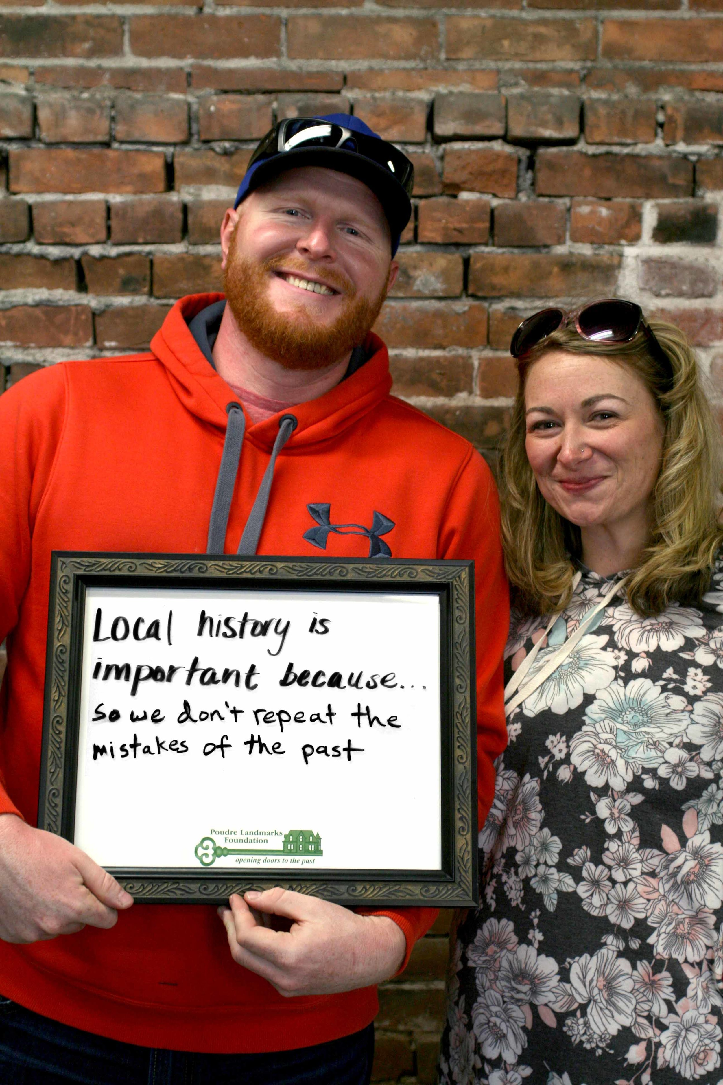 tabitha and justin share why local history matters
