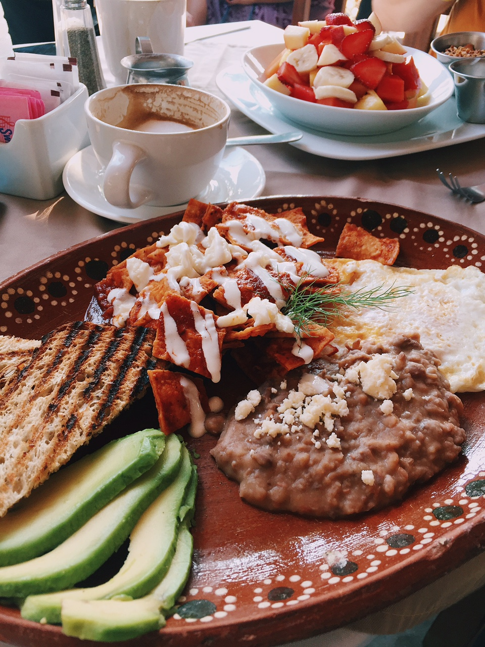 Look at this food!! For real, this was the freshest avocado, fruit and tastiest chilaquiles ever! So this was how I started off the wedding day, with a big yummy Mexican breakfast...again, eat local! slap your own hand if you try to order a burger or anything remotely familiar