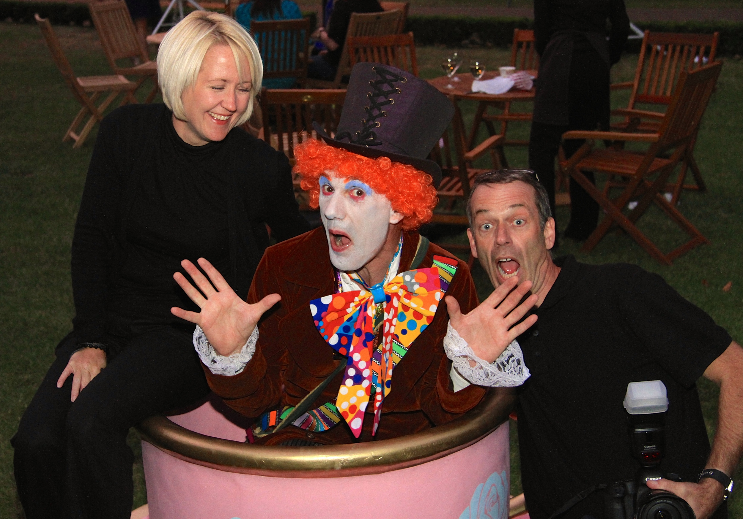 @ VelvetStorm_  Loving all the photo's taken at the Mad Hatter's Garden Party   http://  bit.ly/1mmNEOQ
