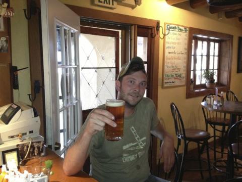 Cord Kiessling is the new brewer at Eske's Brew Pub in Taos.