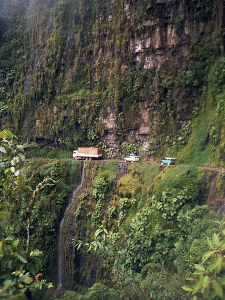 Nor Yungas, also known as Death Road, in Bolivia