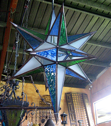 Mexican Glass Star Lampara