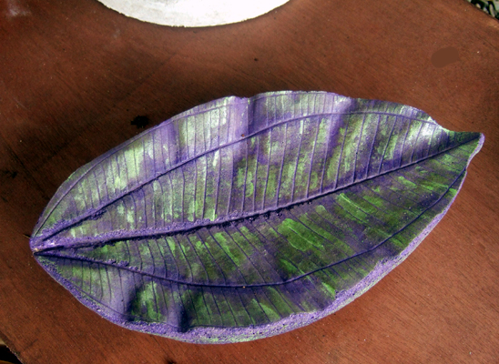 "Concrete Garde Leaves - 12"" long x 6"" wide"
