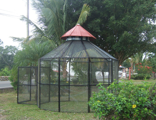Solid Iron and screen Aviary - SOLD!