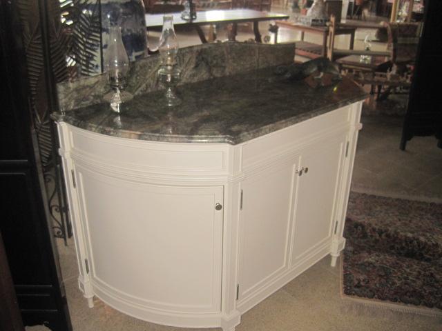 Brazilian marble topped vantity unit