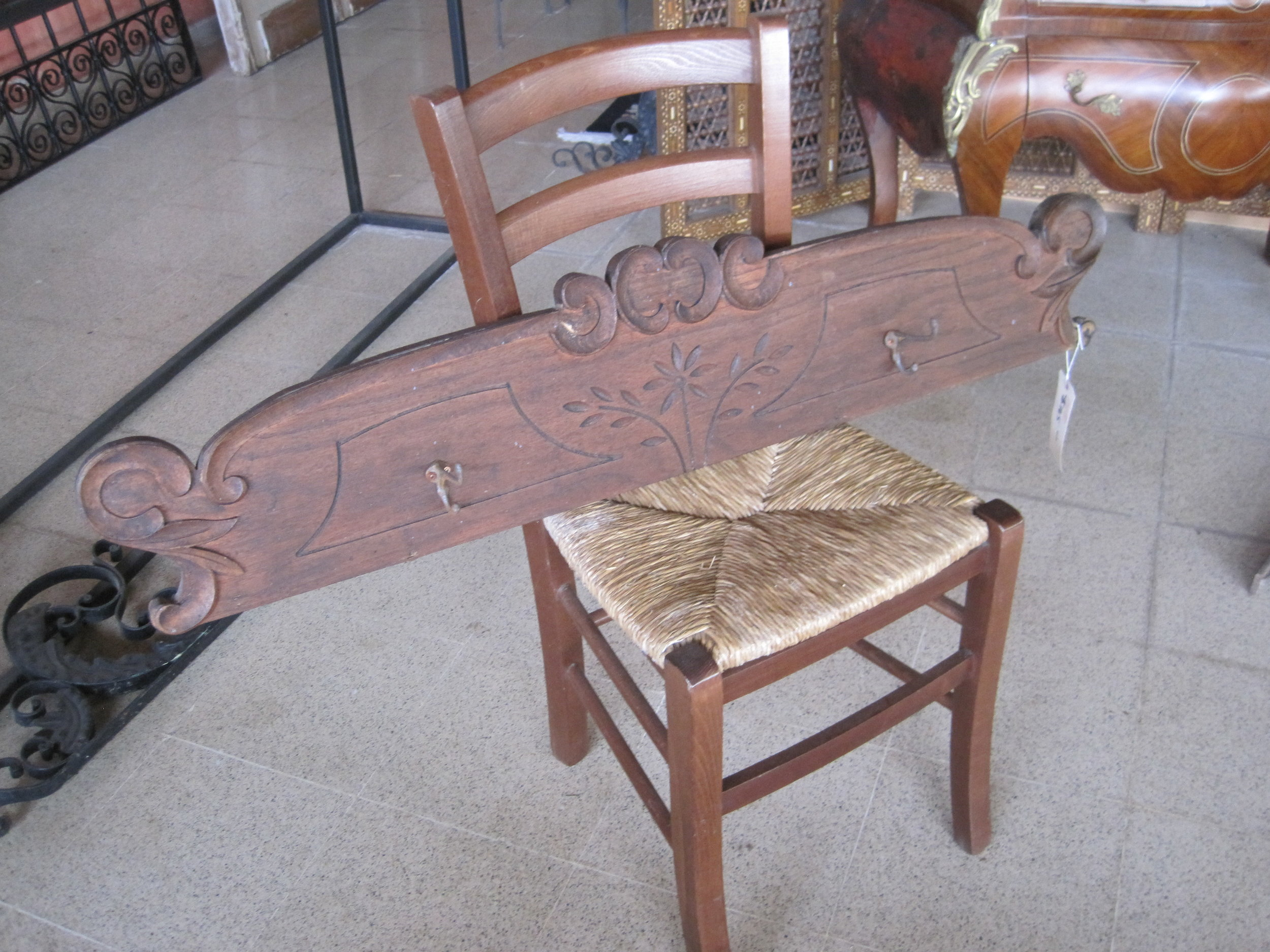 Old Bedhead hook rack - $85