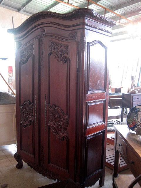 Carved Cedar Armoire