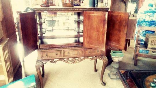 Stunning Antique English Cabinet Bar