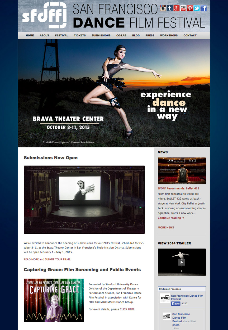 San Francisco Dance Film Festival Website