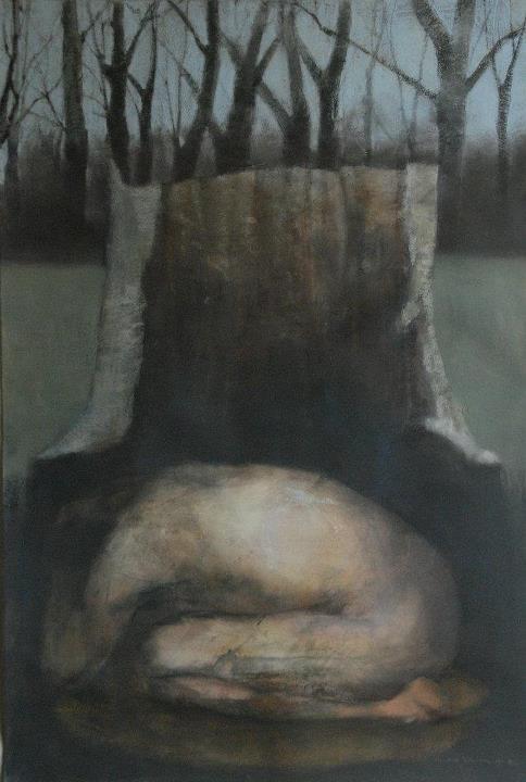 """""""Sanctuary"""" charcoal, pastel 2011"""