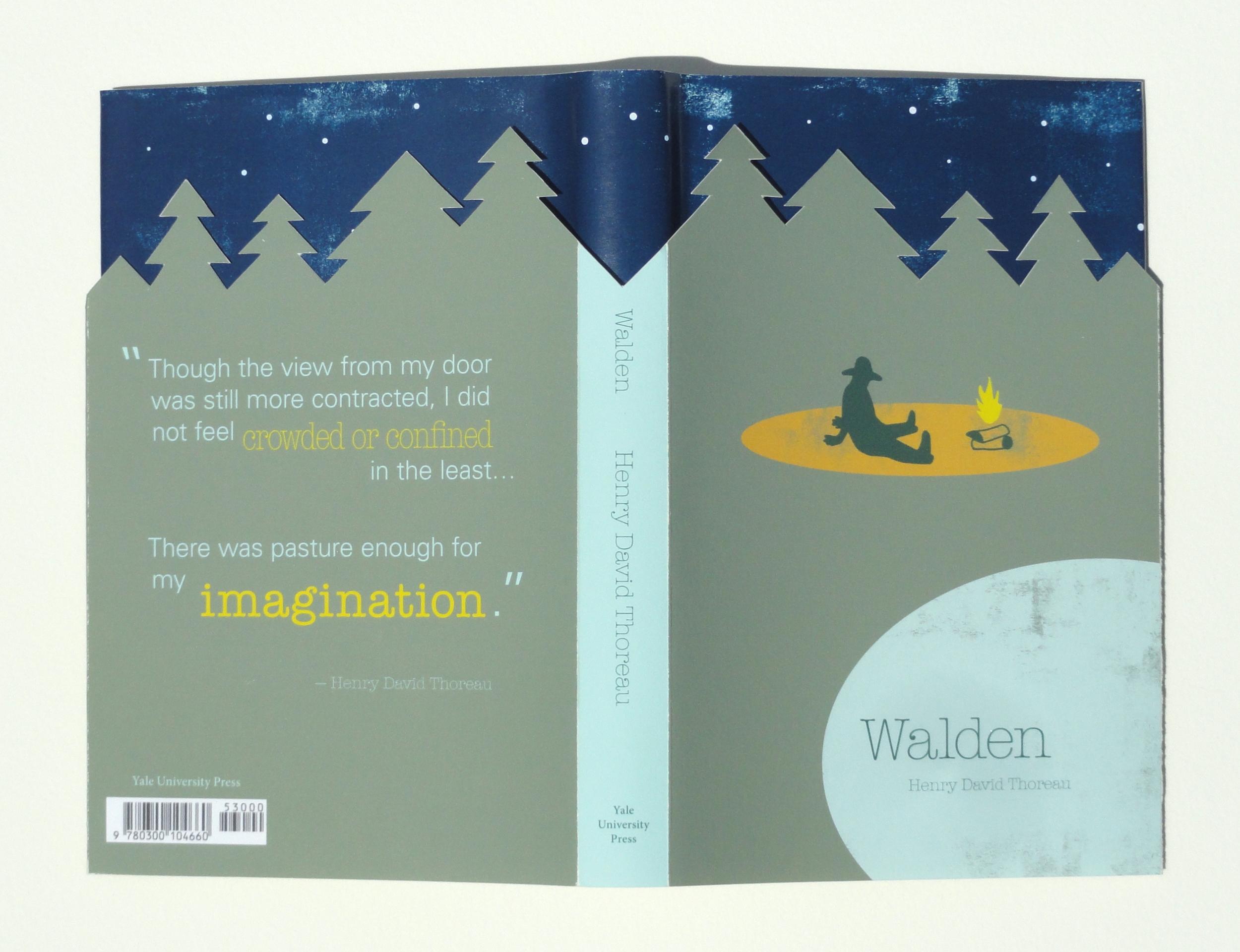 "Book Cover design for Henry David Thoreau's ""Walden"""