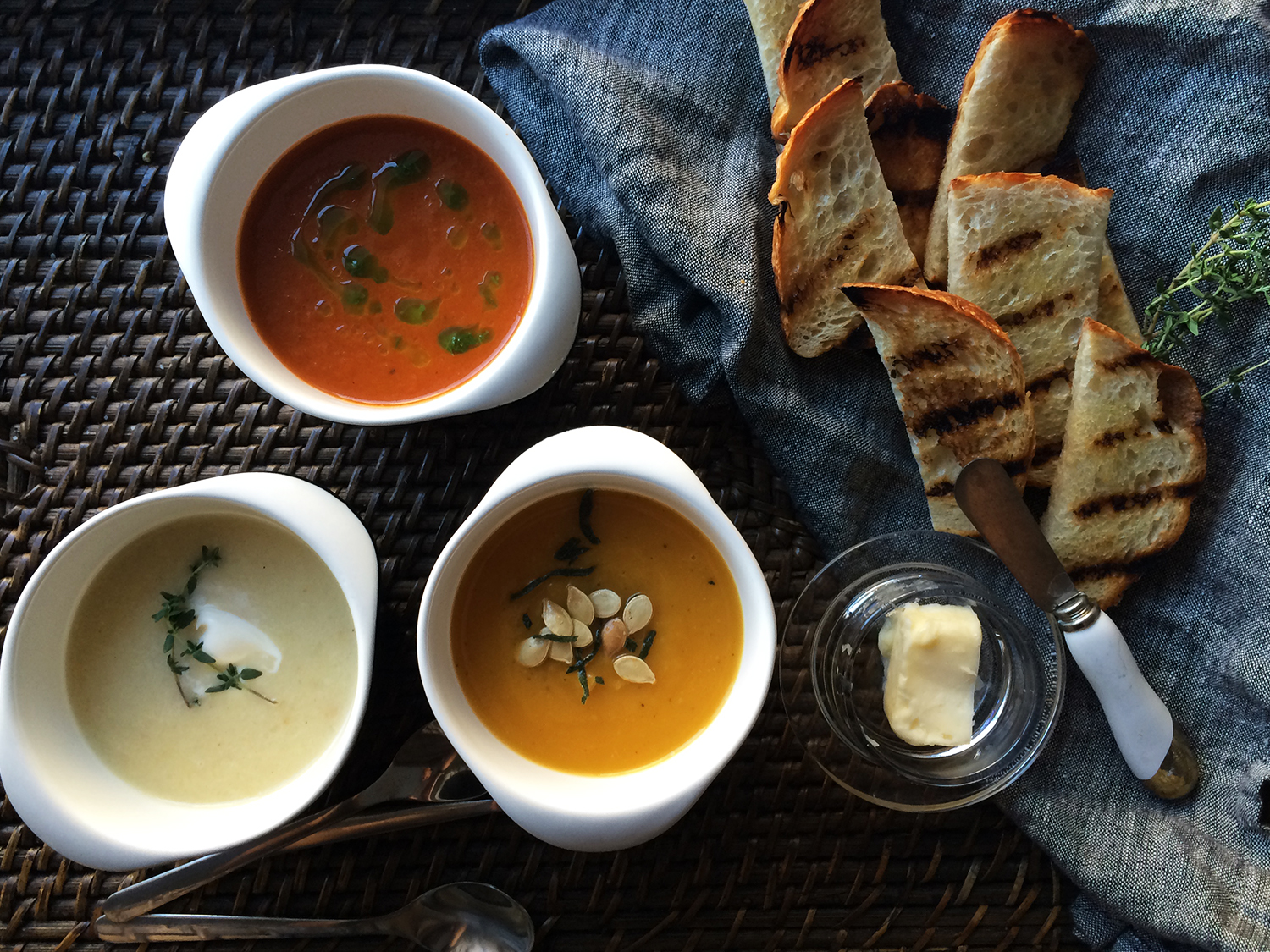 Trio of Autumn Soups