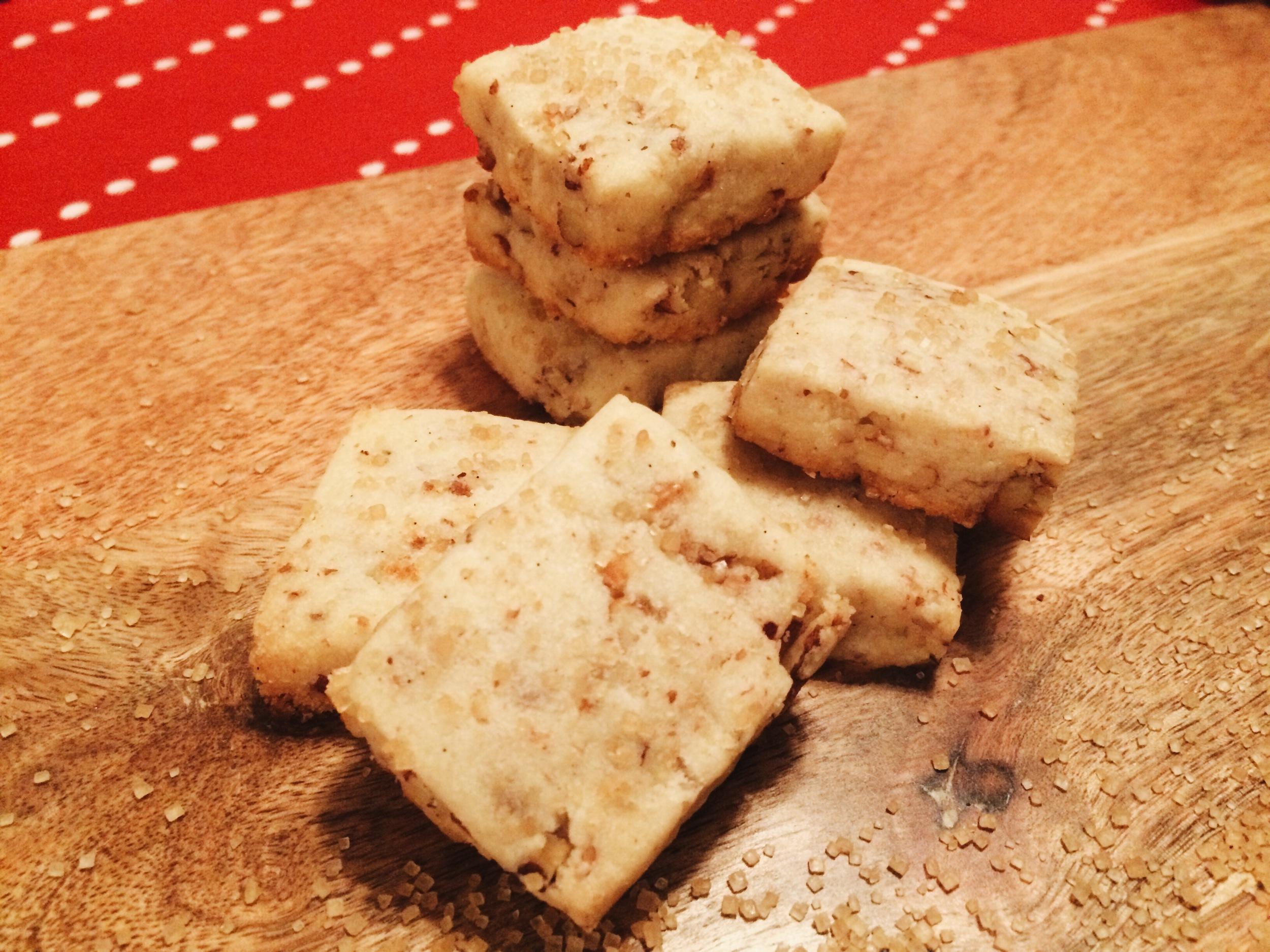 Vanilla Bean Pecan Shortbread