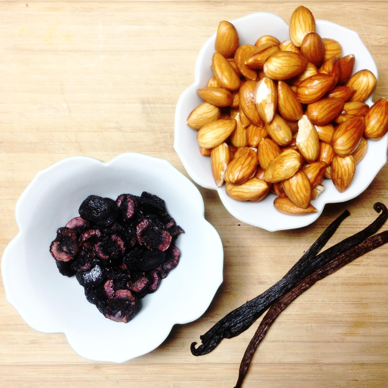 Cherry Vanilla Almond Milk Ingredients