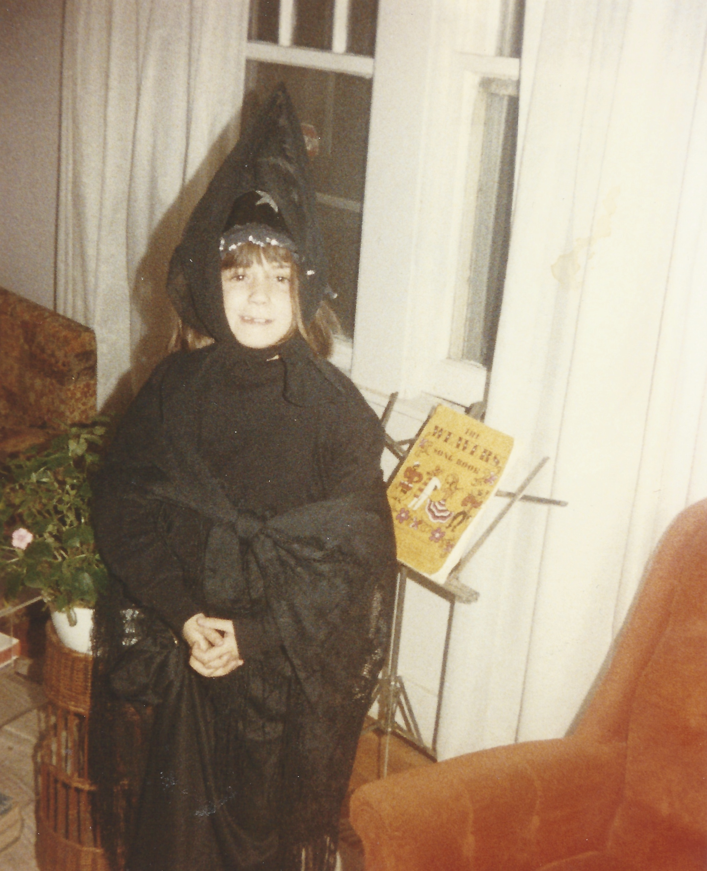 The author ready for tricking and treating