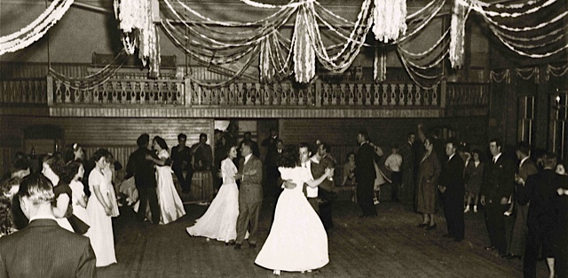 Dancers at the Odd Fellows Hall, Swan's Island, late 1940's