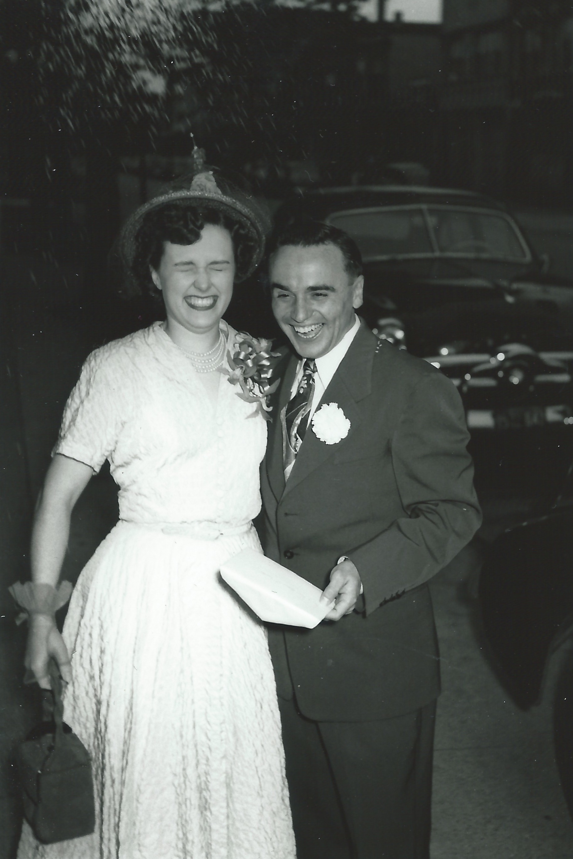 Phyllis and Bob on their wedding day.