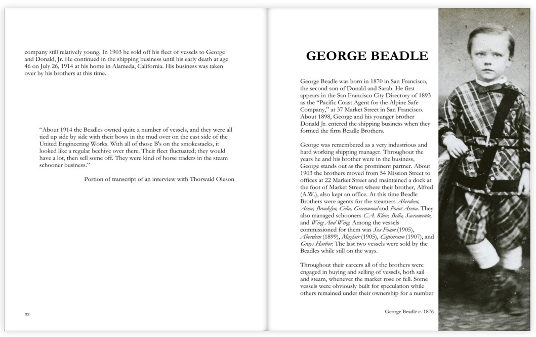 Inside spread of a chapter about George Beadle.