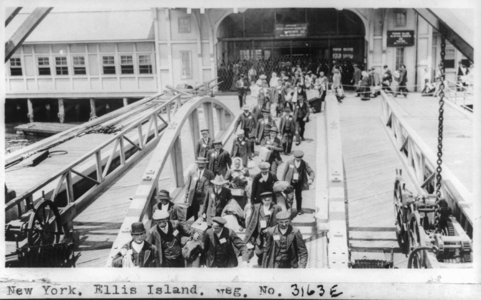 Ellis Island Immigrants by National Photo Co., ca. 1909-1932