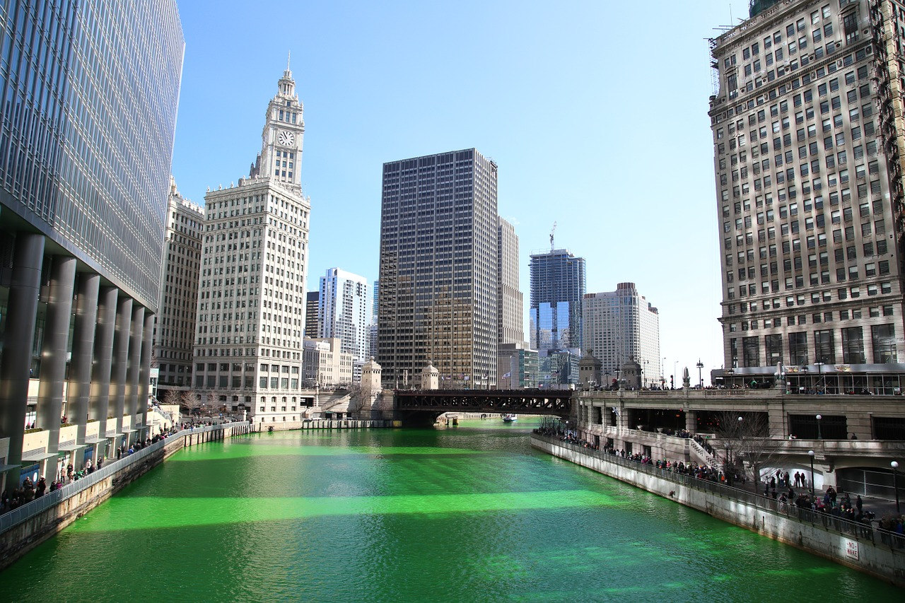 Chicago dyes its river green for St. Patrick's Day.