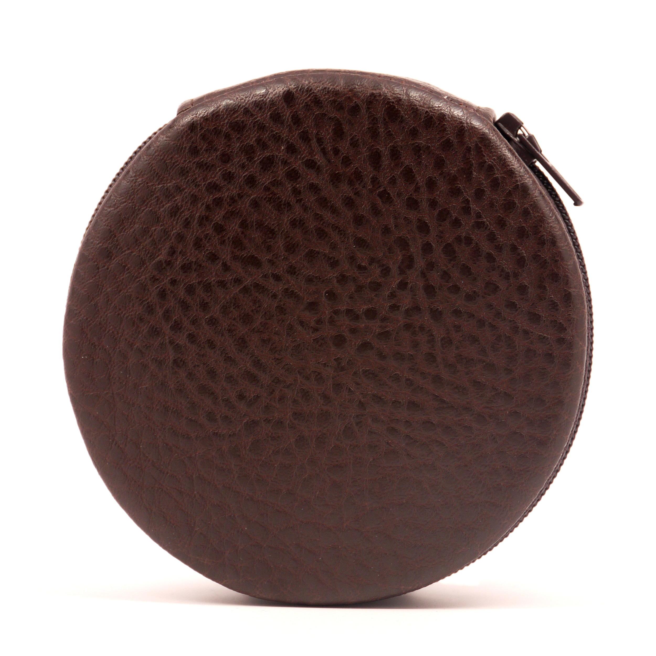 Brown Pebble Zip-A-Round Pill Organizer