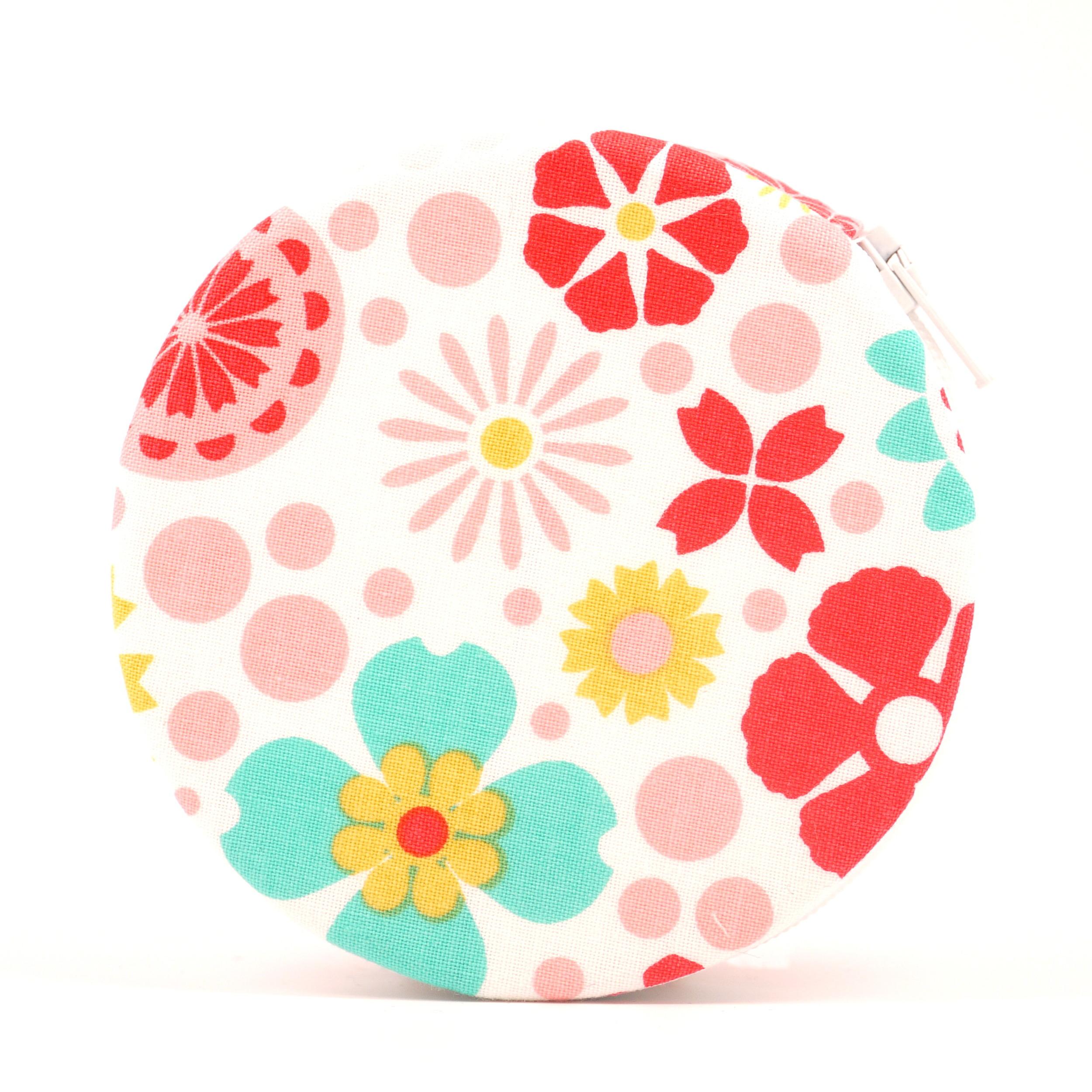 Modern Flowers Zip-A-Round Pill Case