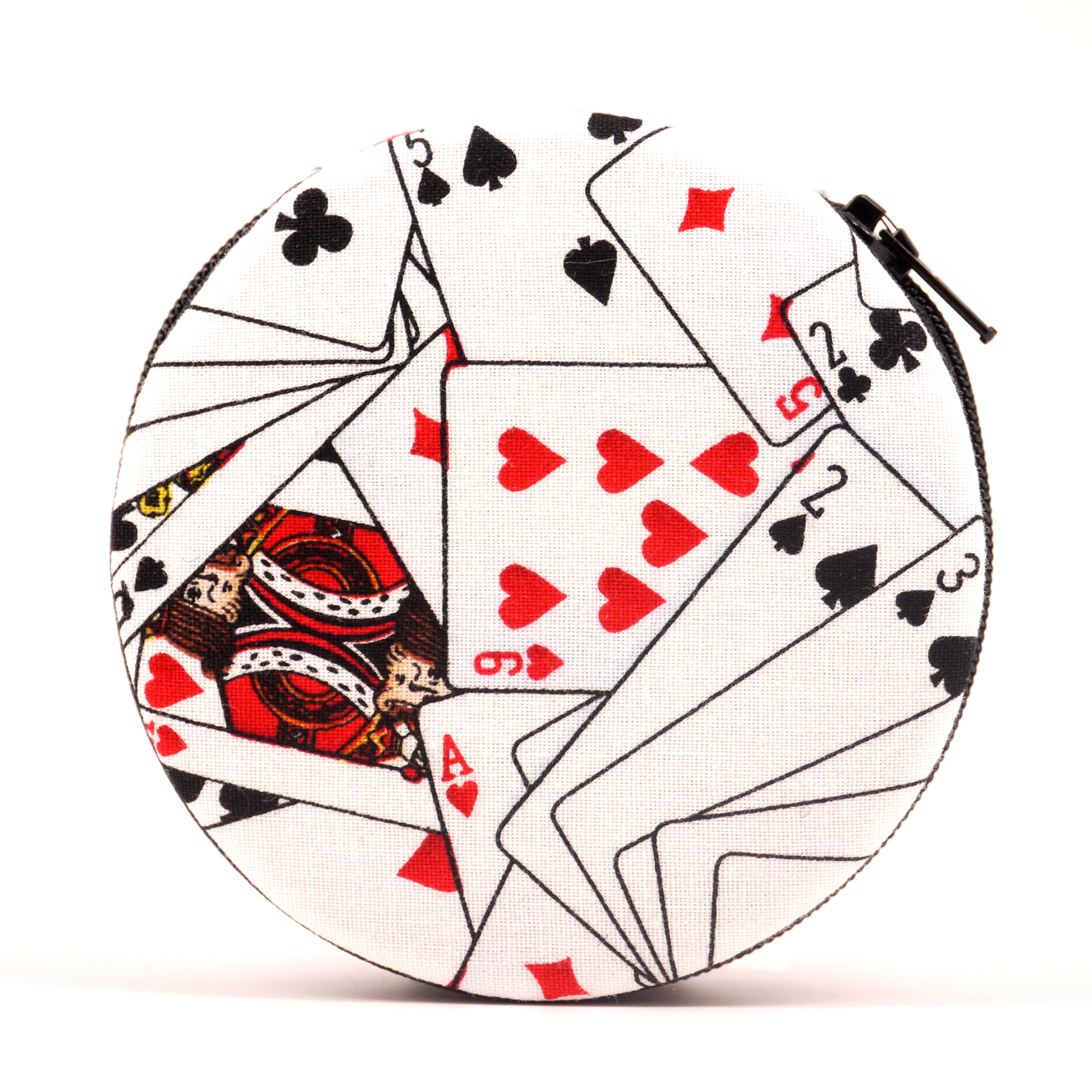 Playing Cards Printed Fabric Pill Case