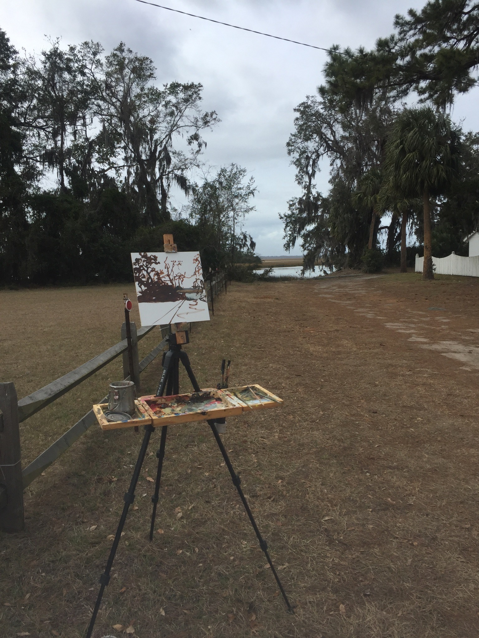My basic plein air set up from this weekend!