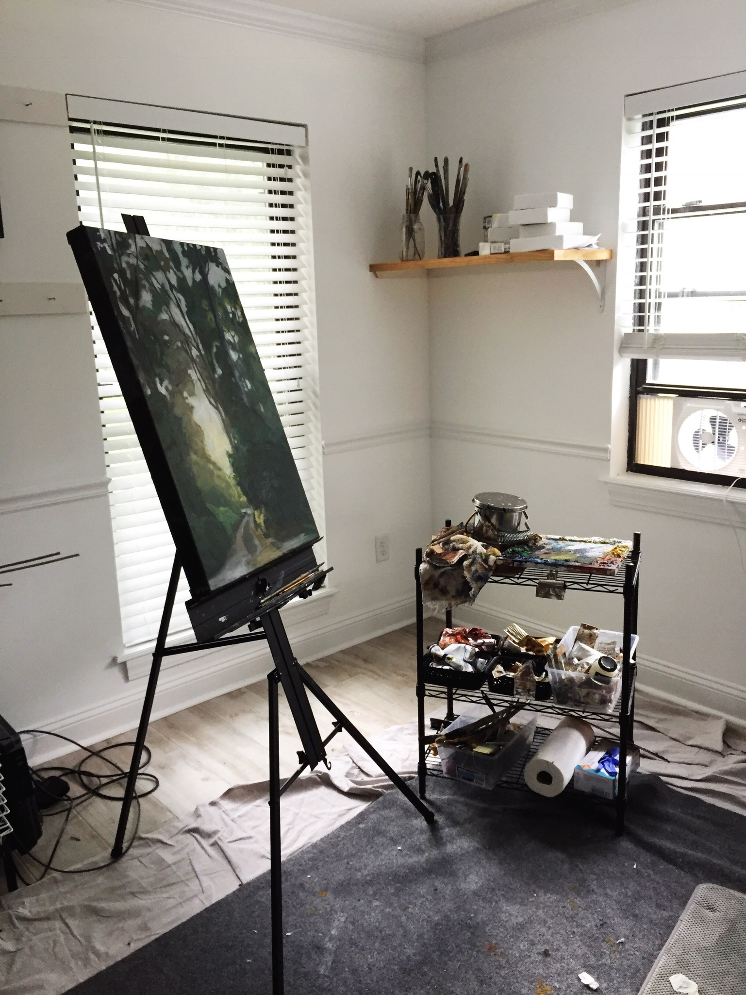 """My easel and """"taboret"""""""