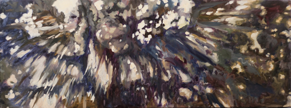 "(SOLD) Becoming, 18""x48"", oil on 1.5"" deep wrapped canvas"