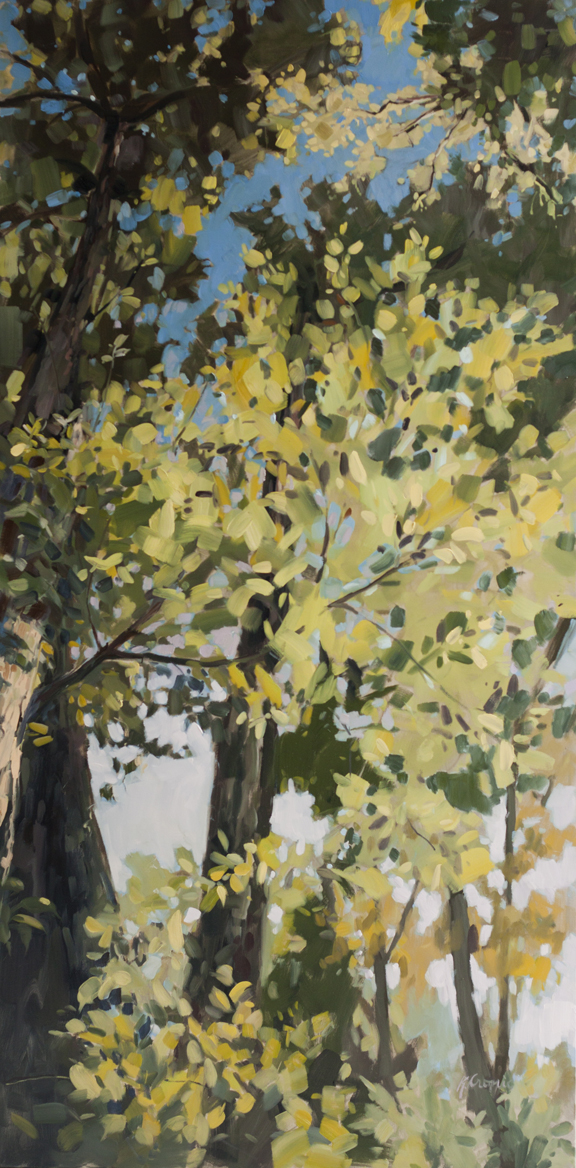 "New Growth, 72""x36"" oil on canvas"