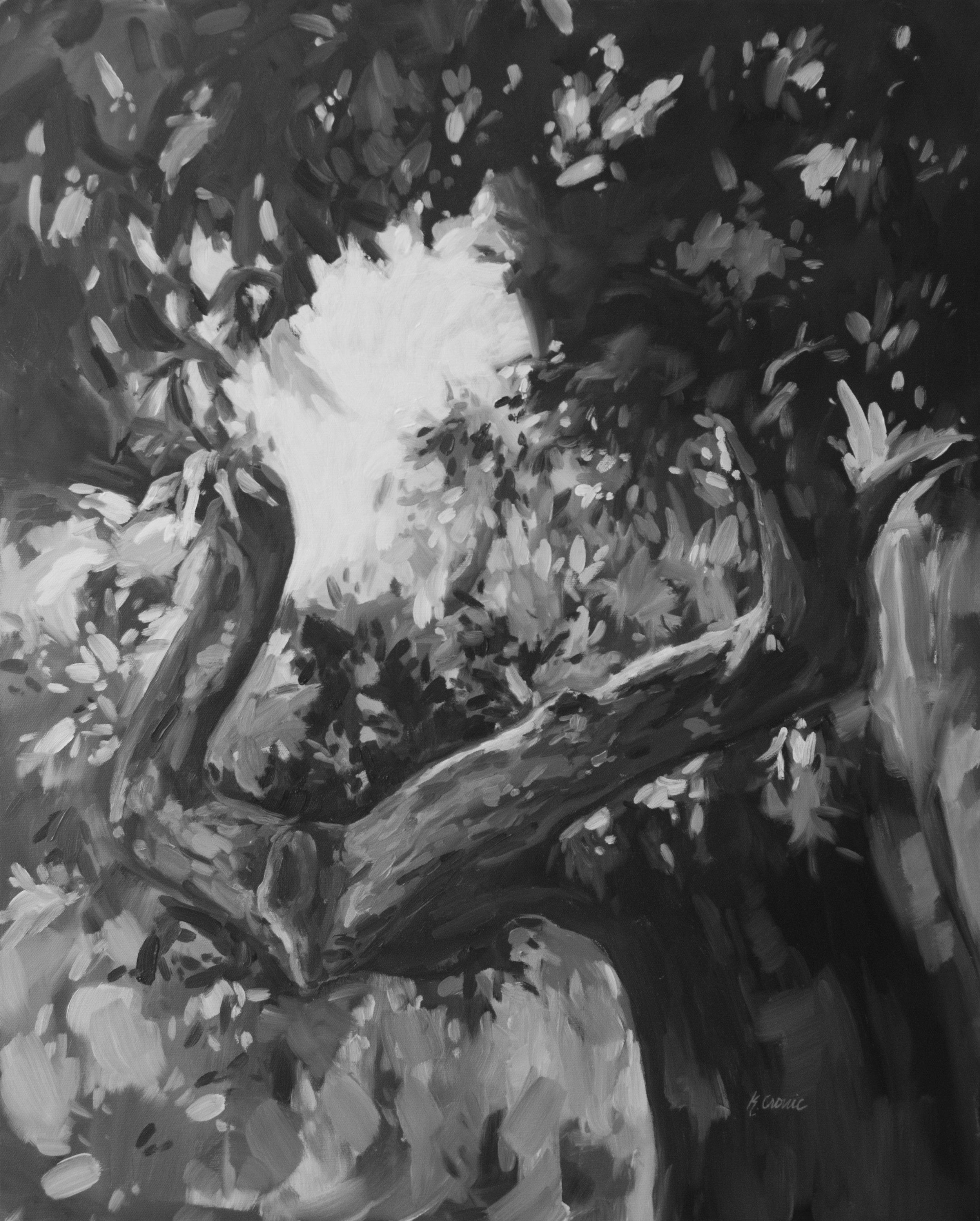 "Monochrome 1, 30""x24"" oil on canvas"