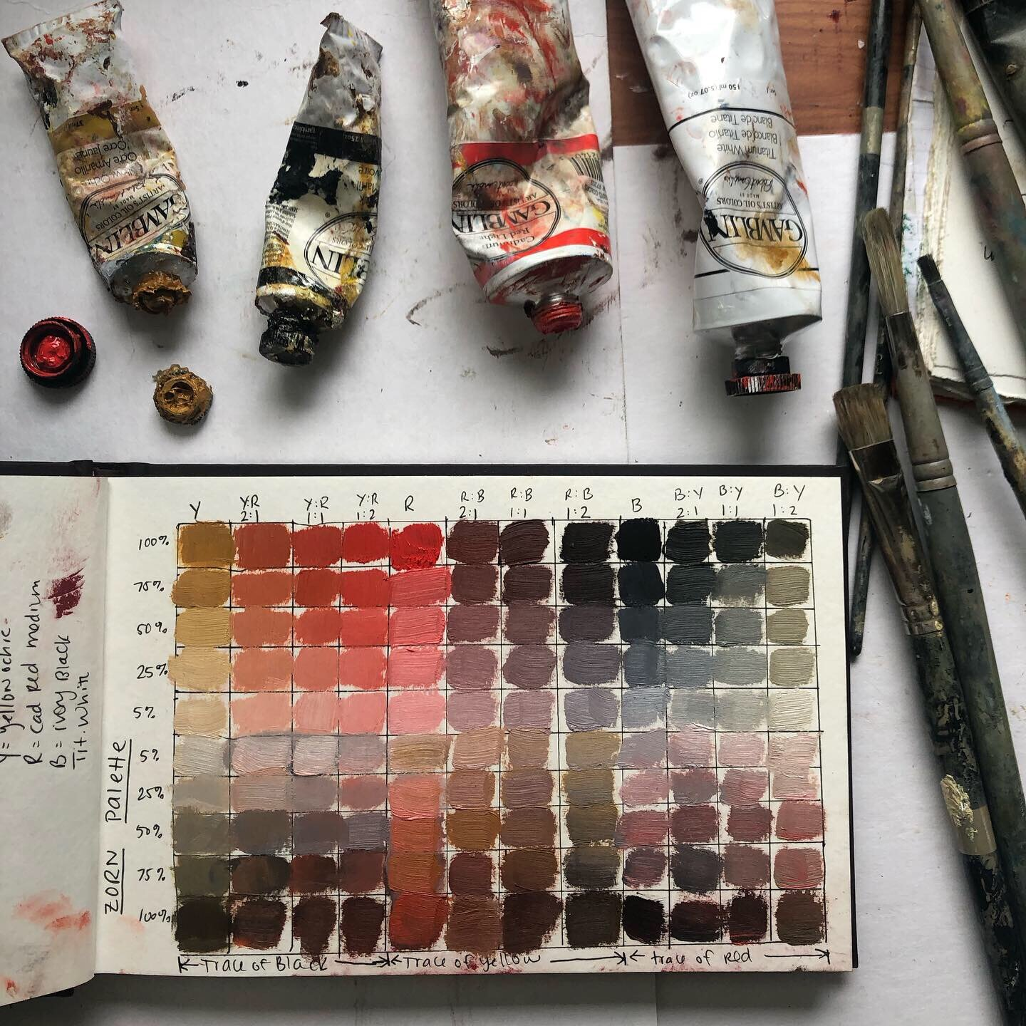Here's a gorgeous color chart I borrowed from  https://www.michaellynnadams.com  to get a feel for the range of available options in this palette. They are beautiful, aren't they?