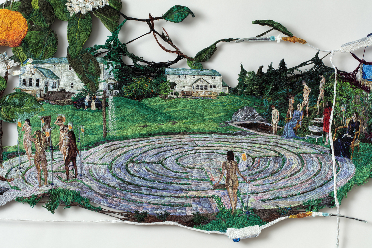 07. Stuck (detail 1), Sophia Narrett, 2016, Embroidery Thread and Fabric.jpg