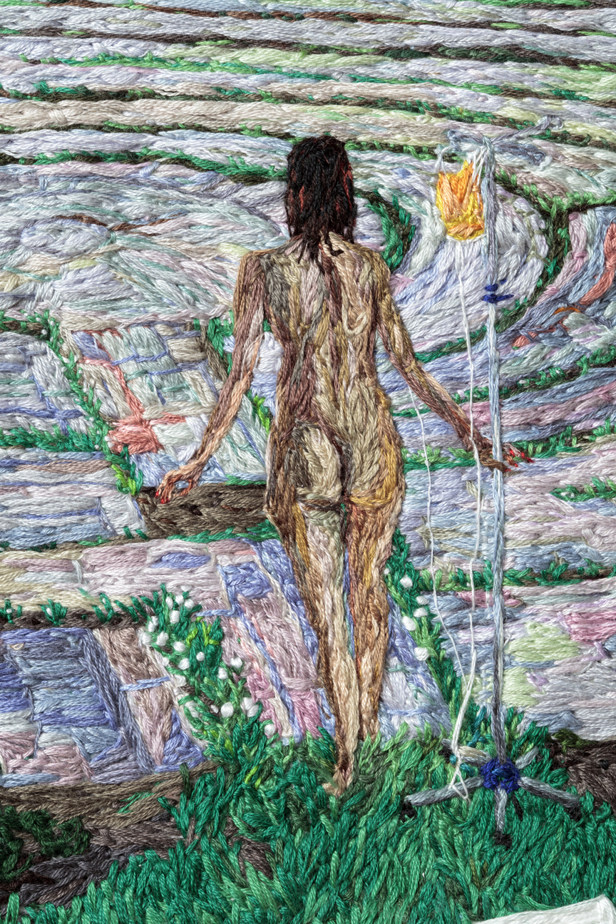 07. Stuck (detail 2), Sophia Narrett, 2016, Embroidery Thread and Fabric.jpg