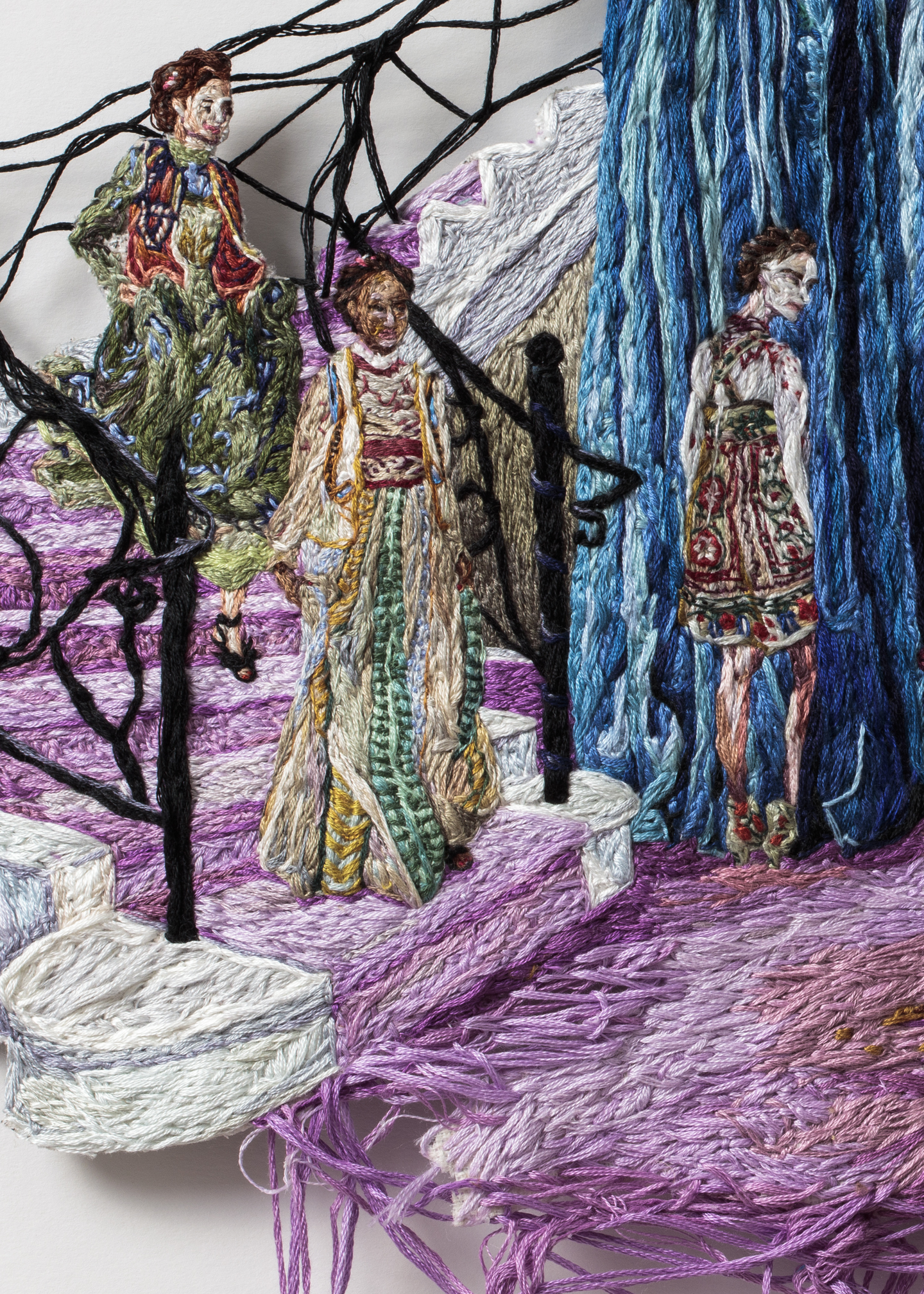 3J. Princess Time (detail 4), Sophia Narrett, 2016, Embroidery Thread and Fabric.jpg